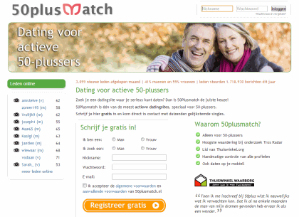 senioren datingsite 50plusmatch