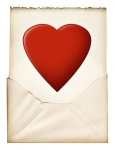 envelop met hart